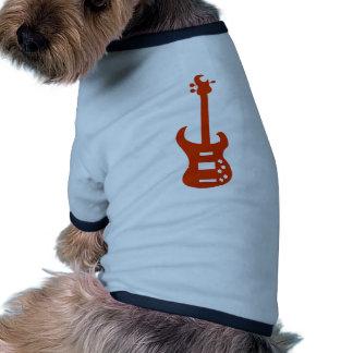 Orange Electric Guitar Musical Instrument Icon Dog T Shirt