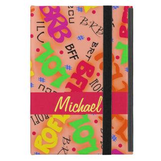 Orange Electronic Texting Art Abbreviation Cover For iPad Mini
