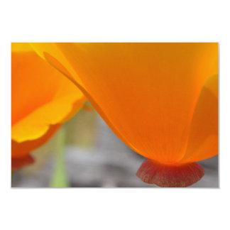 Orange Elegance R.S.V.P. 3.5x5 Paper Invitation Card