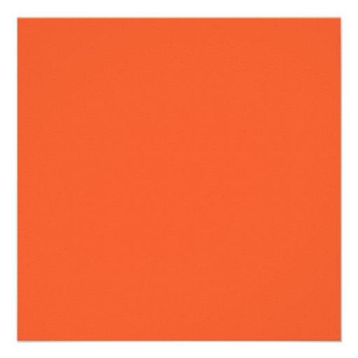 Orange Elegant Monogram Graduation Announcement (back side)