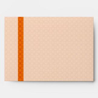 Orange Elegant Pattern Envelope