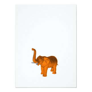 Orange Elephant Card