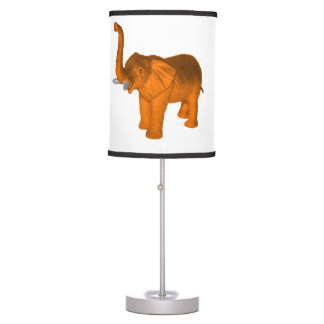 Orange Elephant Desk Lamp