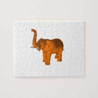 Orange Elephant Jigsaw Puzzle