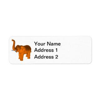 Orange Elephant Label