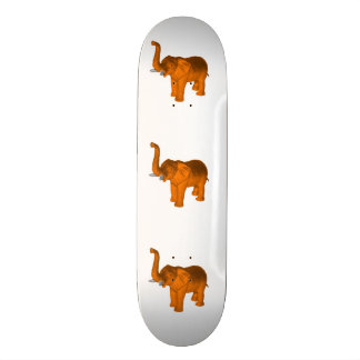 Orange Elephant Skateboard Deck