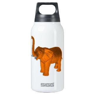 Orange Elephant Thermos Water Bottle
