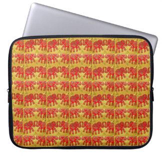 Orange Elephants Laptop Computer Sleeve