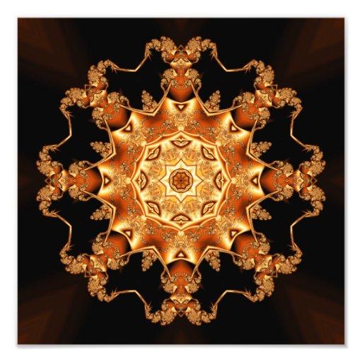 Orange enamel fibula photograph