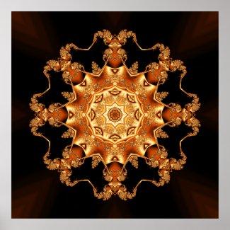 Orange enamel fibula poster