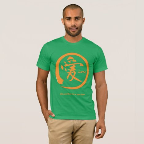 Orange enso circle | Japanese kanji for love T-Shirt
