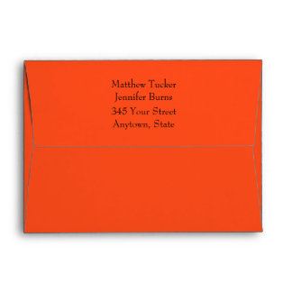 Orange Envelope w/ Preprinted Return Address Envelopes