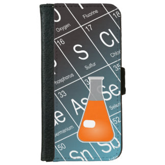 Orange Erlenmeyer (Conical) Flask Chemistry iPhone 6/6s Wallet Case