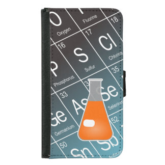 Orange Erlenmeyer (Conical) Flask Chemistry Samsung Galaxy S5 Wallet Case