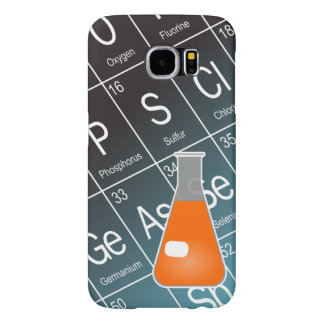 Orange Erlenmeyer (Conical) Flask Chemistry Samsung Galaxy S6 Case