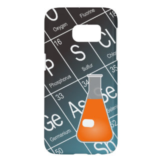 Orange Erlenmeyer (Conical) Flask Chemistry Samsung Galaxy S7 Case