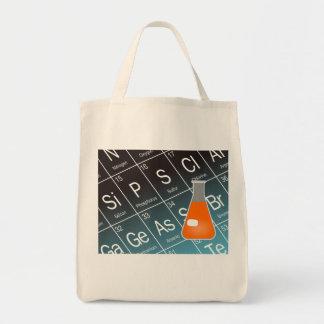 Orange Erlenmeyer (Conical) Flask Chemistry Tote Bag