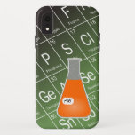 Orange Erlenmeyer Flask (with Initials) Chemistry iPhone XR Case