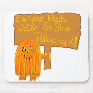 orange everyone needs water mouse pad