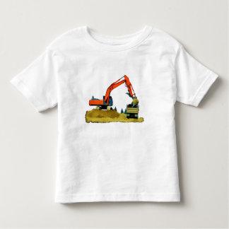 Orange Excavator and Yellow Dump-Truck Toddler T-shirt