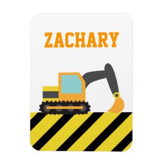 Orange Excavator, Construction Vehicle, For kids Magnet