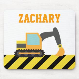 Orange Excavator, Construction Vehicle, For kids Mouse Pad
