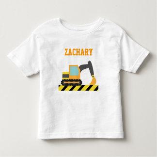 Orange Excavator, Construction Vehicle, For kids Tee Shirt