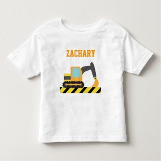 Orange Excavator, Construction Vehicle, For kids Toddler T-shirt