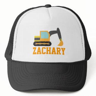 Orange Excavator, Construction Vehicles, for Kids Trucker Hat