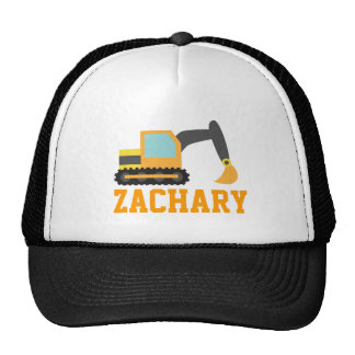 Orange Excavator, Construction Vehicles, for Kids Trucker Hat