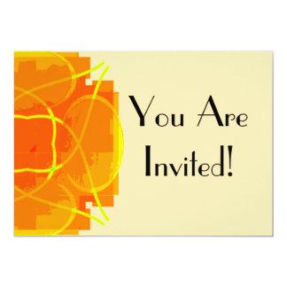 Orange Explosion 5x7 Paper Invitation Card