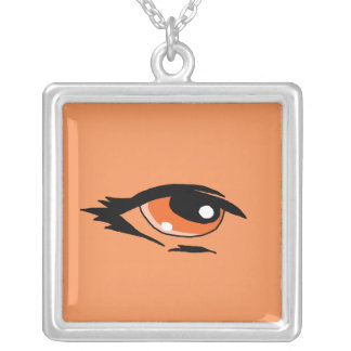 Orange eye design matching jewelry set