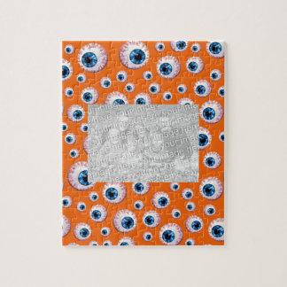 Orange eyeball pattern jigsaw puzzles