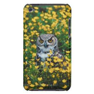 Orange Eyed Owl in Meadow of Flowers iPod Touch Case-Mate Case