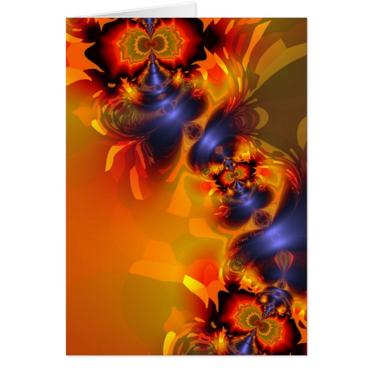Orange Eyes Aglow – Gold & Violet Delight Card