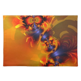 Orange Eyes Aglow – Gold & Violet Delight Cloth Placemat