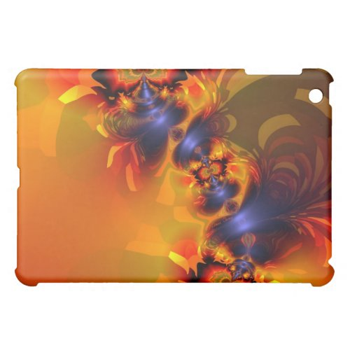 Orange Eyes Aglow – Gold &amp&#x3B; Violet Delight Cover For The iPad Mini