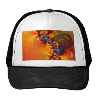 Orange Eyes Aglow – Gold & Violet Delight Trucker Hats
