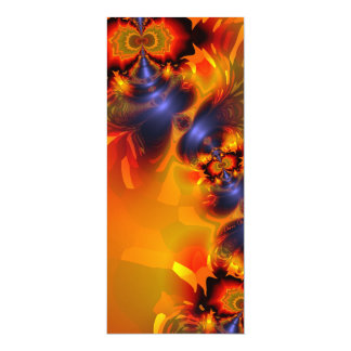 Orange Eyes Aglow – Gold & Violet Delight 4x9.25 Paper Invitation Card