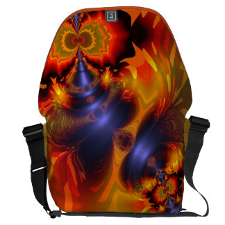 Orange Eyes Aglow – Gold & Violet Delight Large Courier Bags