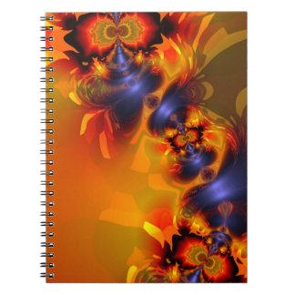 Orange Eyes Aglow – Gold & Violet Delight Note Book
