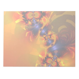 Orange Eyes Aglow – Gold & Violet Delight Note Pads