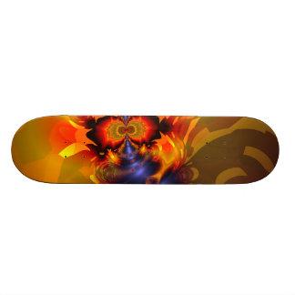 Orange Eyes Aglow – Gold & Violet Delight Skateboard