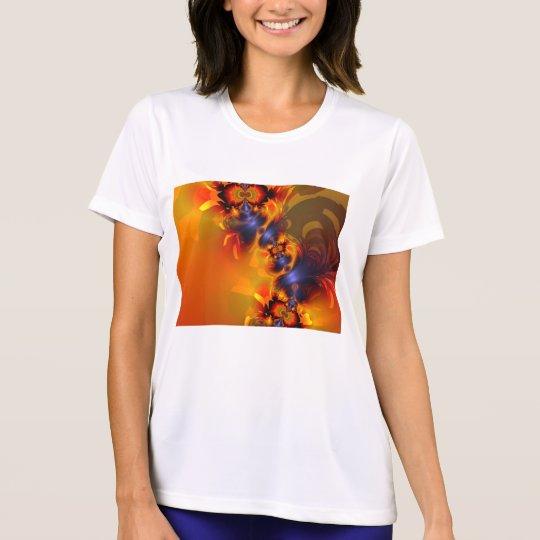Orange Eyes Aglow – Gold & Violet Delight T-Shirt