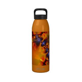 Orange Eyes Aglow – Gold & Violet Delight Drinking Bottles