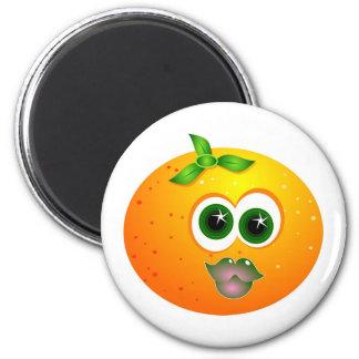 Orange Face Refrigerator Magnet