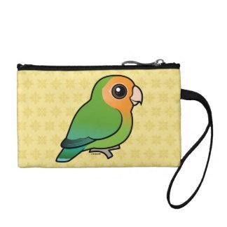 Orange-faced Peach-faced Lovebird Coin Wallet