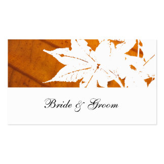 Orange Fall Leaf Place Cards