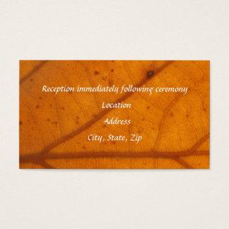 Orange Fall Leaf Reception Cards