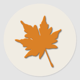Orange Fall Leaf Sticker